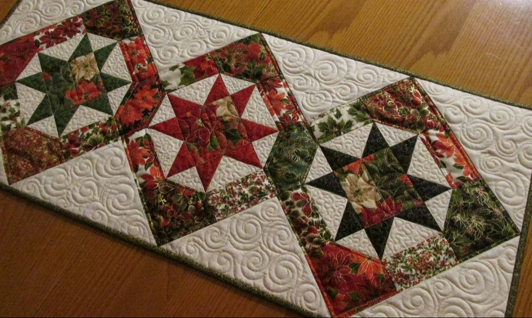 Christmas Table Runner Quilt.More Christmas Table Runners Terri Faust Quilts